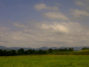 The Blue Ridge Mountains of North Carolina in Summer.